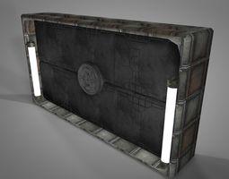 3d model realtime sci fi objects series - 003 - sci fi gate