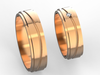 wedding bands with 2 mm stone  3d model stl 3dm 3