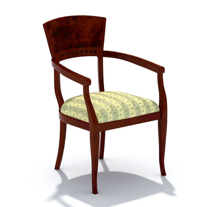 Classic Wooden Chair 3d Model