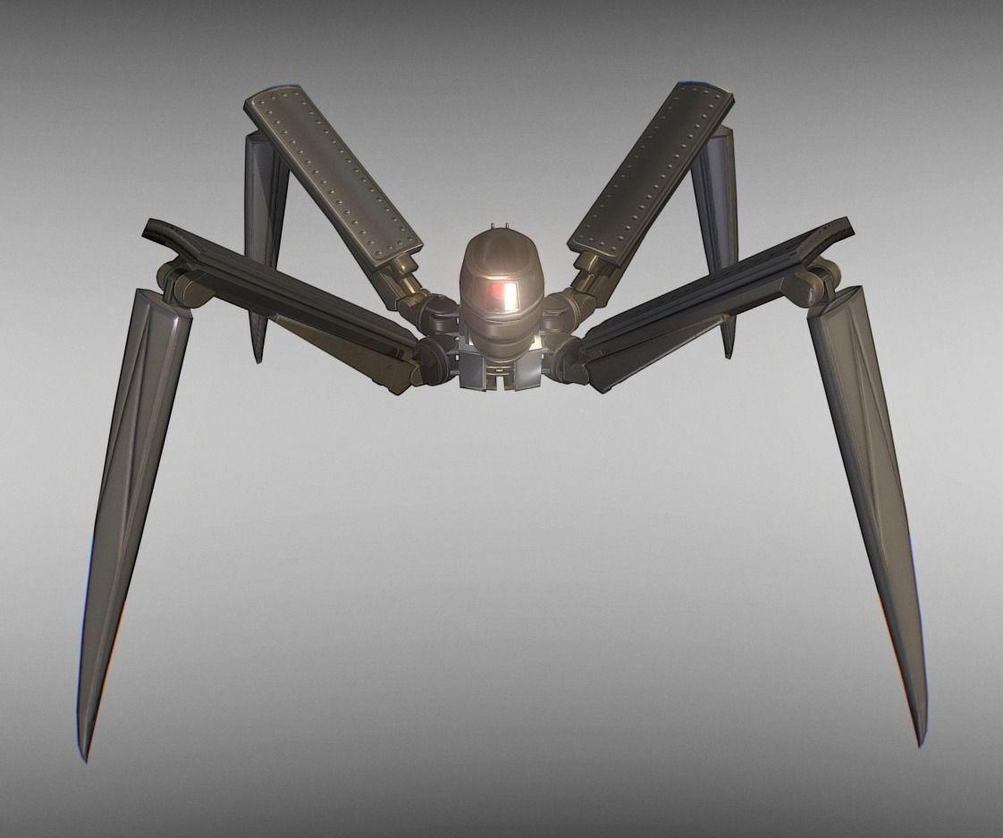 Rigged and Animated Gun Robot