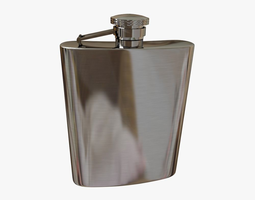 architectural 3D Hip Flask