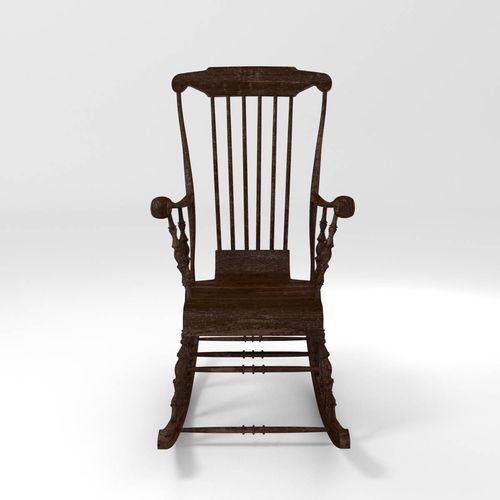 classic rocking chair 3d model obj fbx blend mtl