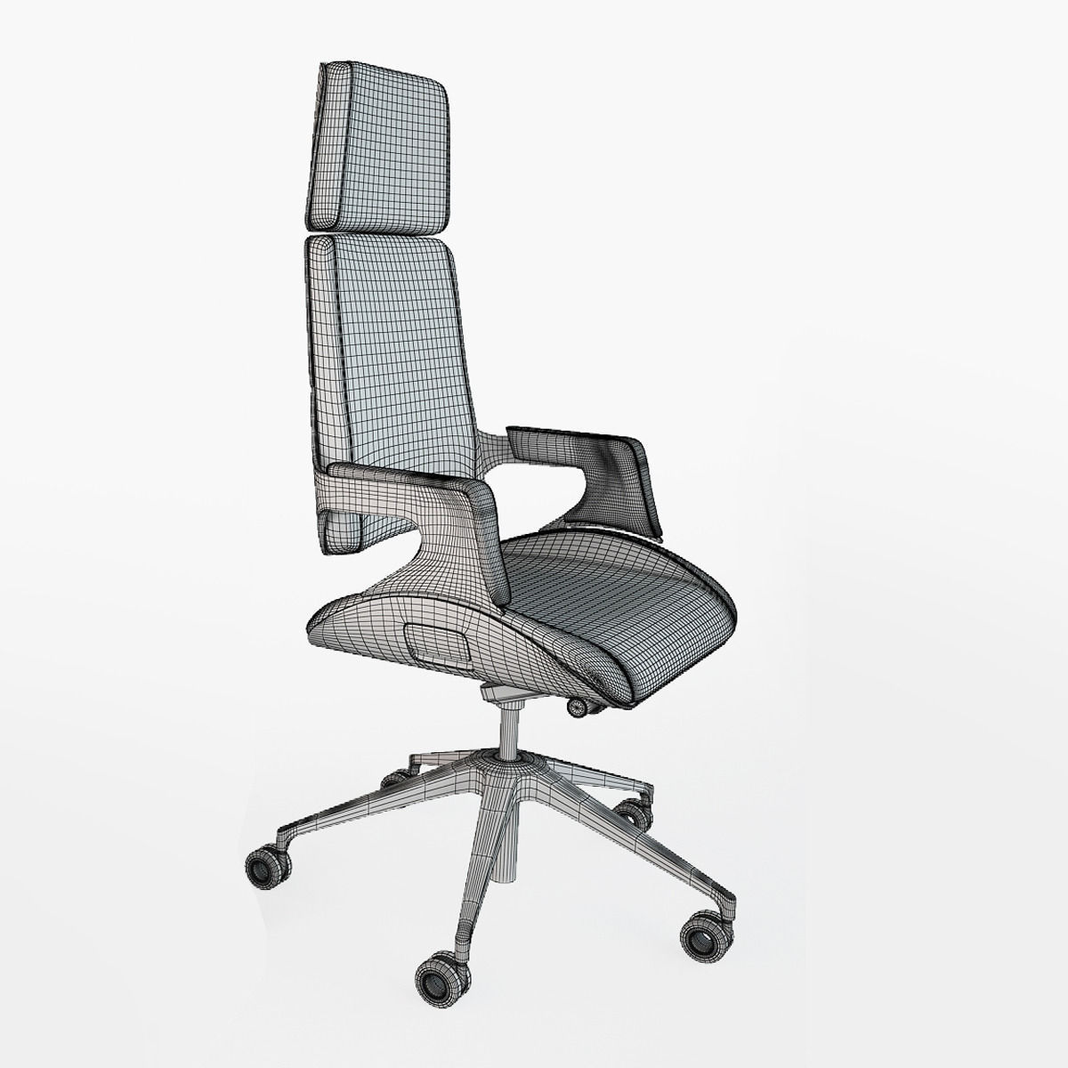 interstuhl silver 362s office chair 3d model max obj fbx cgtrader