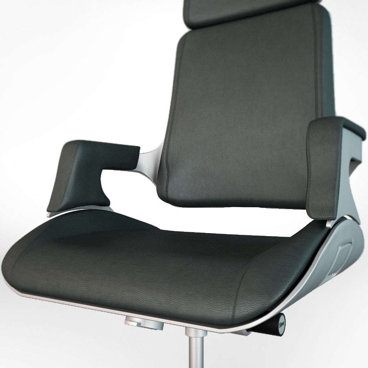 interstuhl silver 362s office chair 3d model max obj. Black Bedroom Furniture Sets. Home Design Ideas