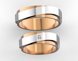 Combined wedding bands 1 3D print model