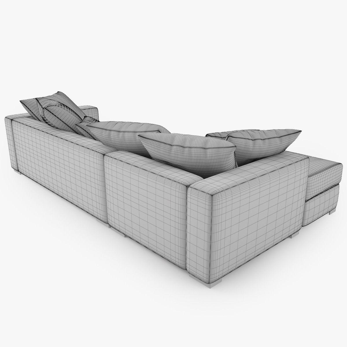 Boconcept cenova sofa set 3d model max obj fbx - Boconcept mobel ...