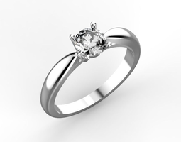 Tiffany style engagement ring 3D printable model