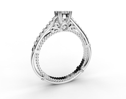 3d print model beautiful engagement ring 4 mm central stone