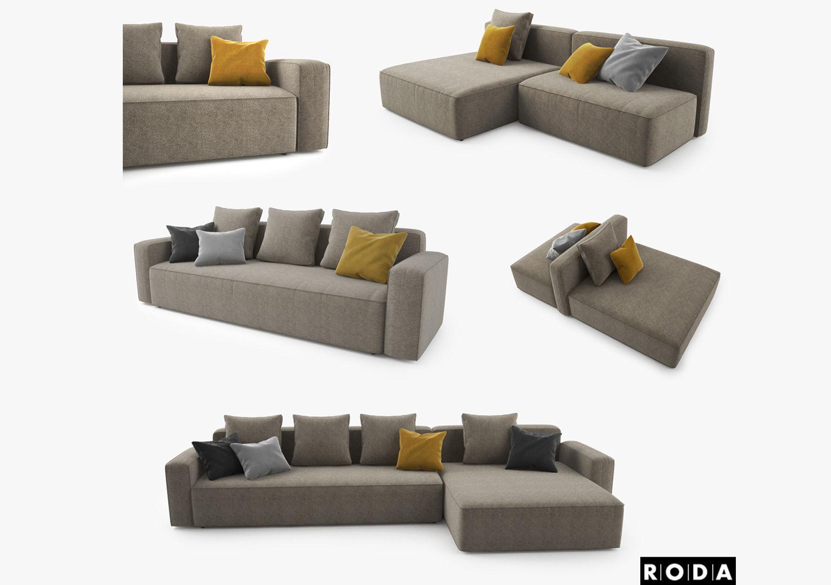 Roda Dandy Sofa Set 3D model | CGTrader