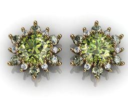 3D print model Snowflake Earrings