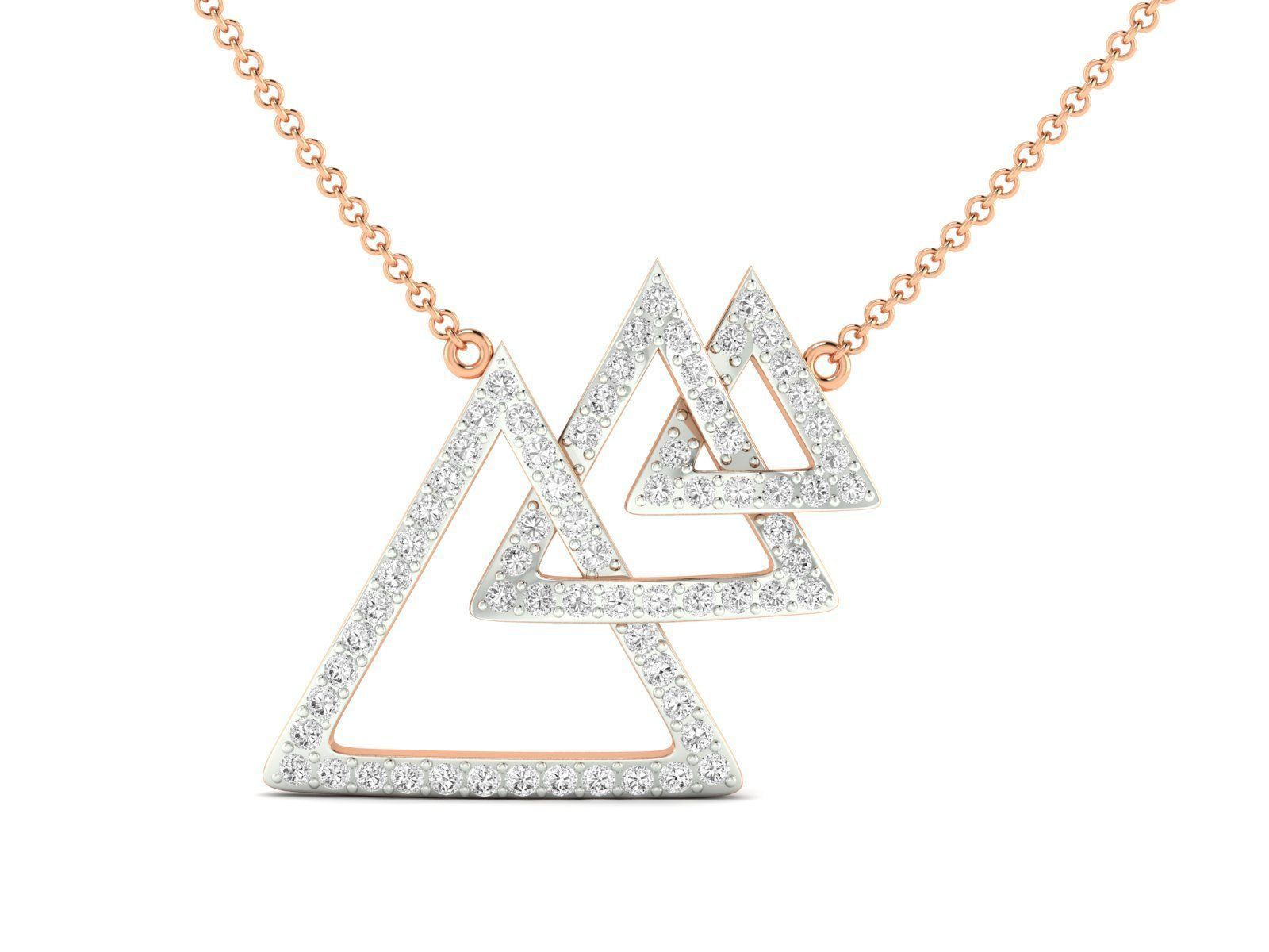 Women necklace 3dm stl render detail