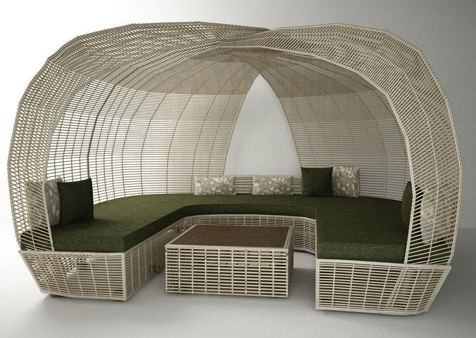 decorating garden furniture 3d