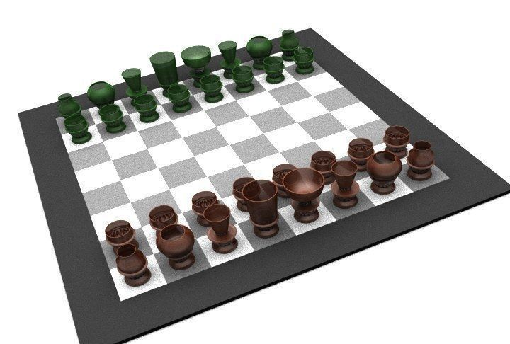 picture relating to Chess Board Printable known as Alco Chess Printable 3D Print Fashion