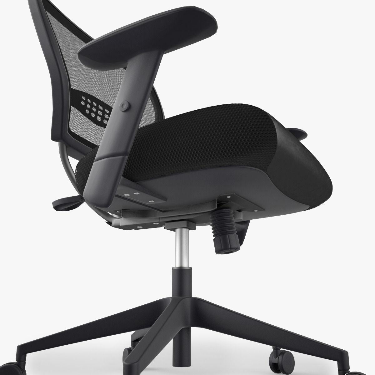 Beau ... Office Star Space Air Grid Chair 3d Model Max Obj Fbx Mtl 5 ...