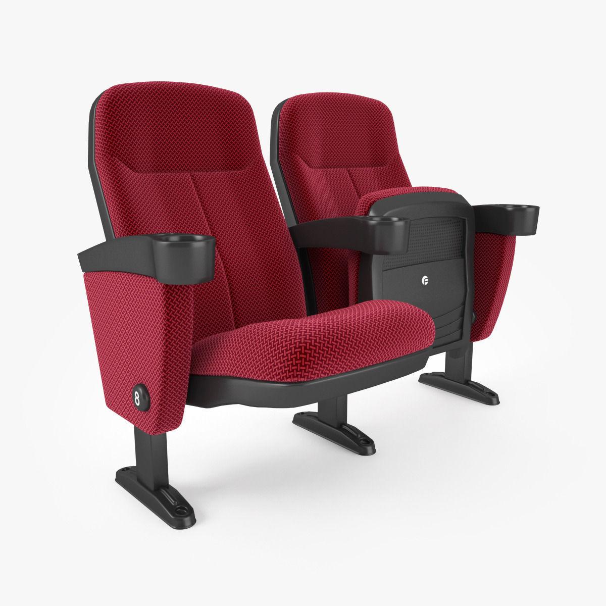Fabric Cinema Seating Chair | 3D model