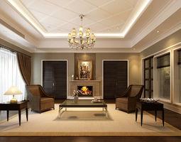 3D interior Classic Living Room