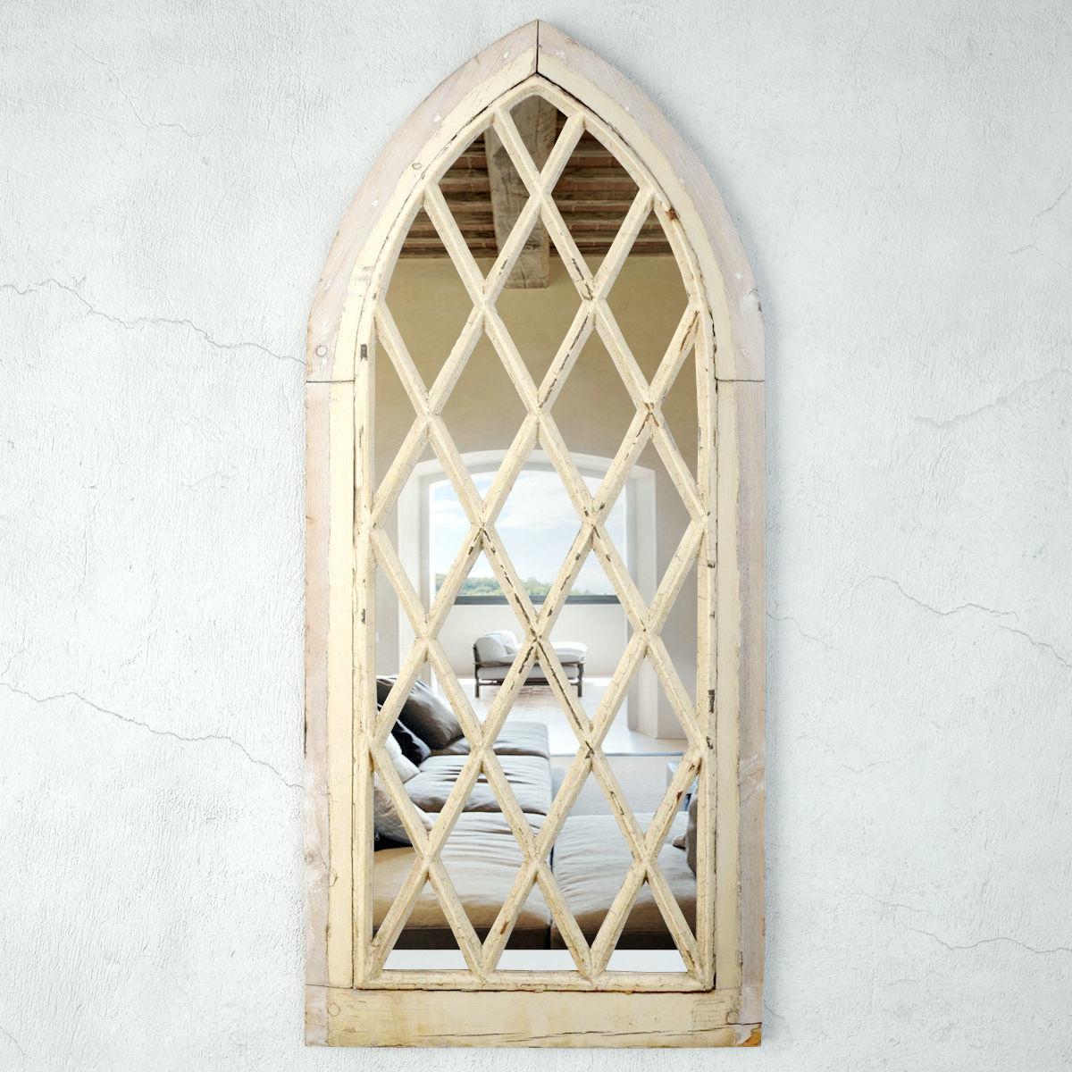 English Gothic Revival Church Window Mirror