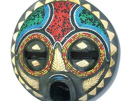 3d model colorful african mask