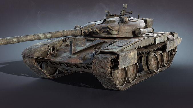 Tank T-72 Burnt