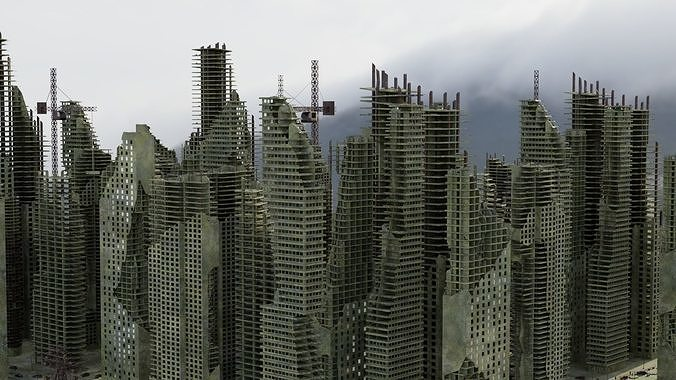 Ruined City Destroyed Cityscape 2