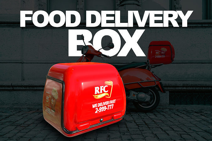 Food Delivery Box - Game Ready