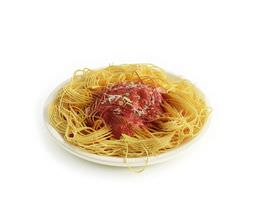 meal   spaghetti with red sauce 3d model