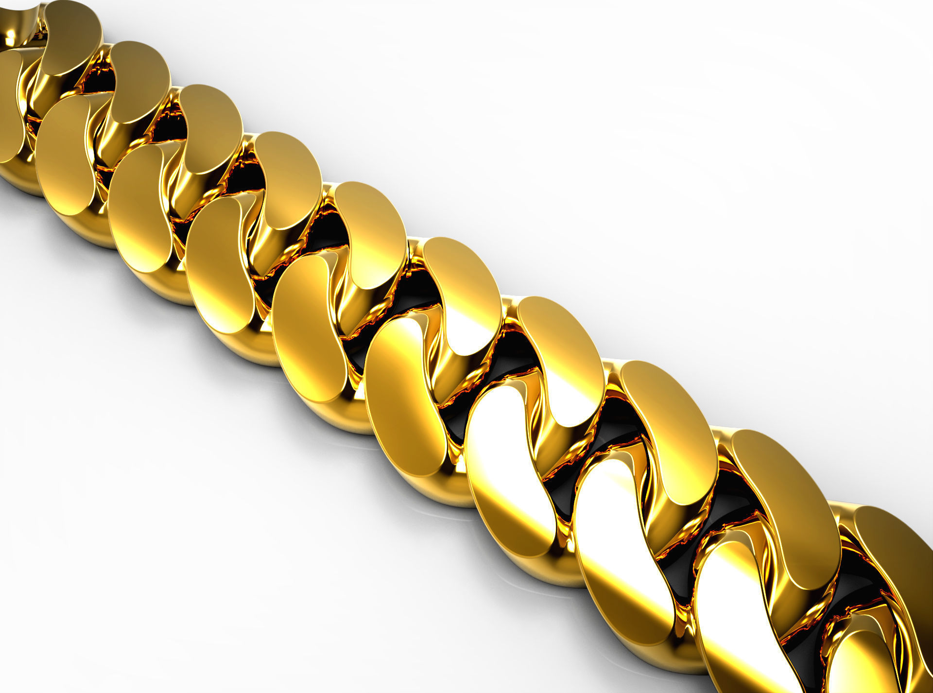 Almond style Cuban link for downloading