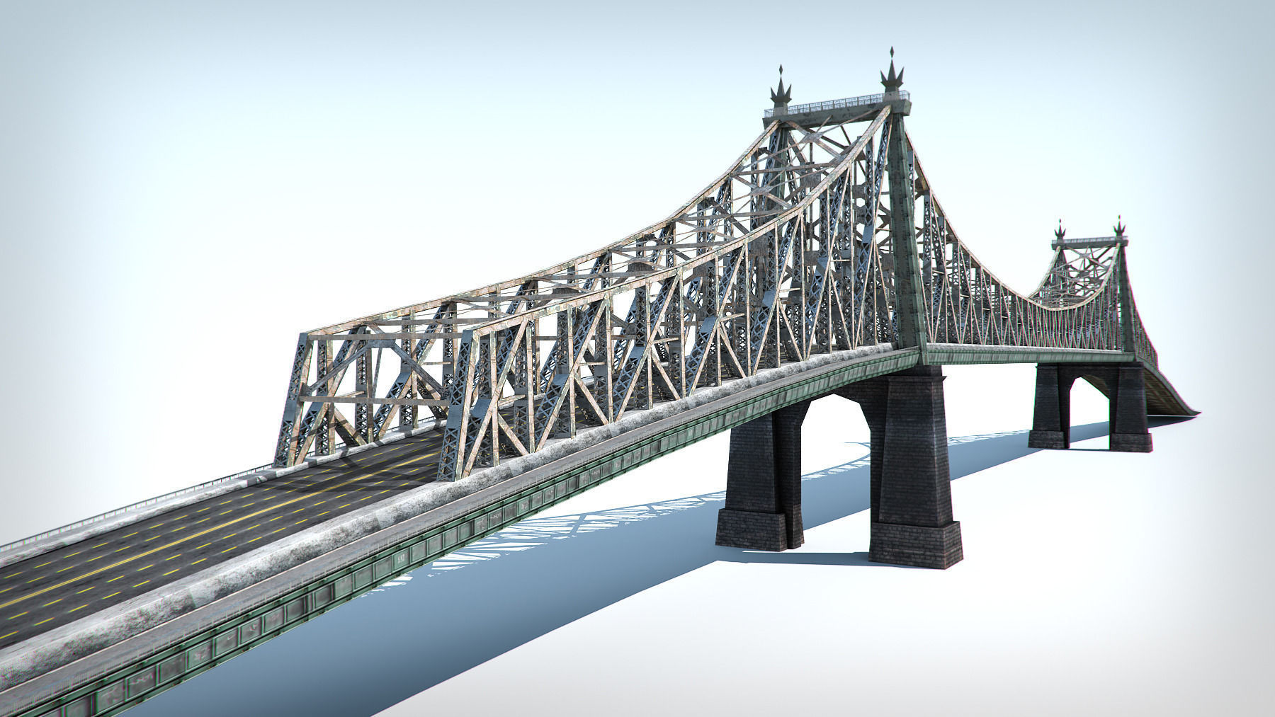 Bridge low poly detailed