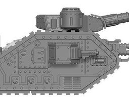 chainsword Space Infantry Tactical Tank 3D print model