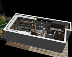 Complet Modern Minimal Flat 2 3D model