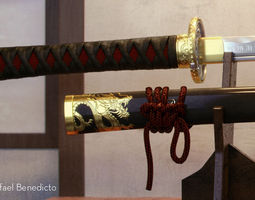 Samurai Katana - High Poly 3D
