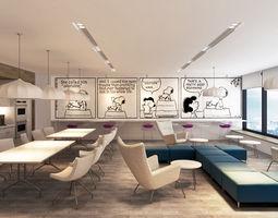 Metlife Office Pantry 3D Model