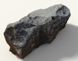 VR / AR ready PBR 3d model old greek stone with writing