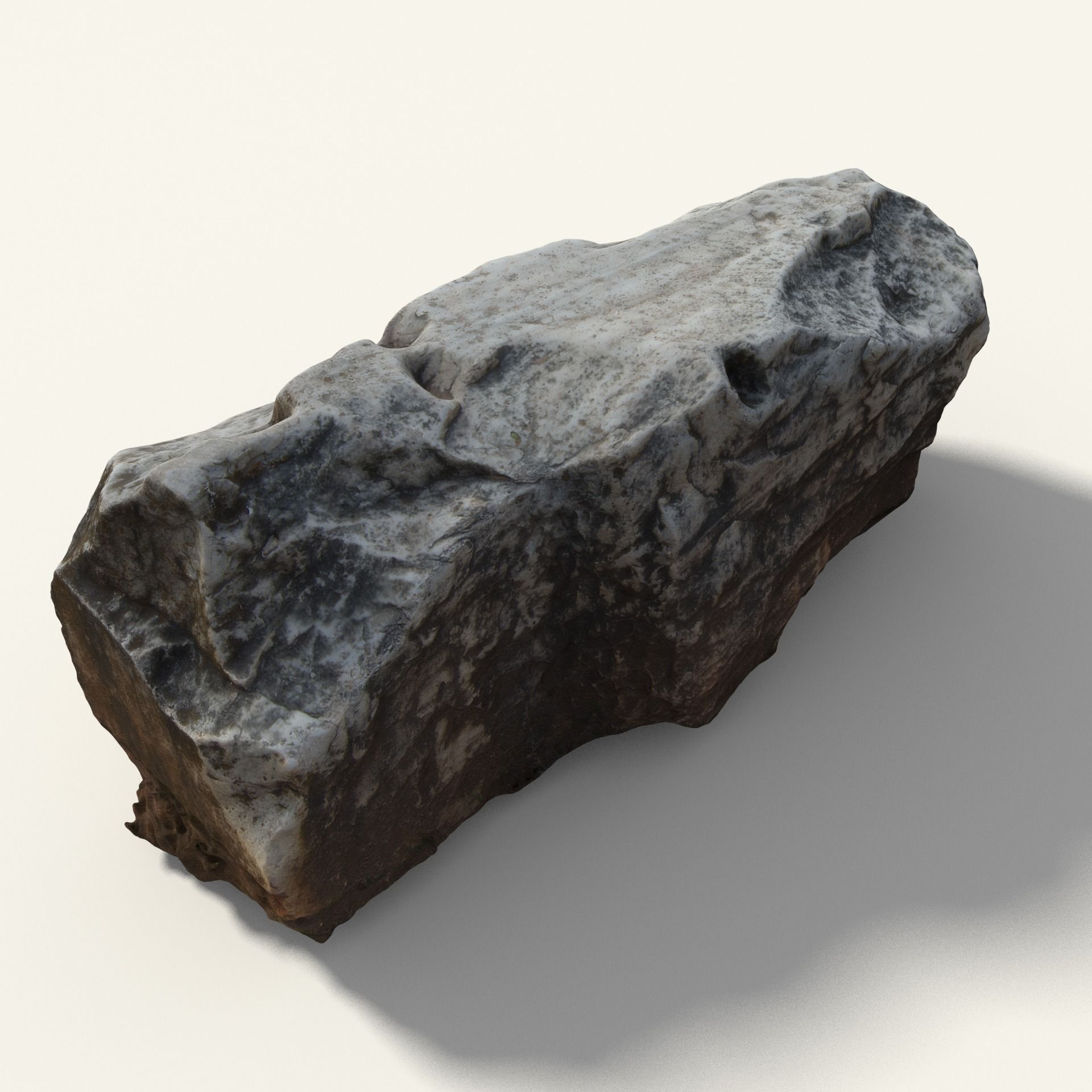3D model Old Greek Stone With Writing | CGTrader on Granite Models  id=64415