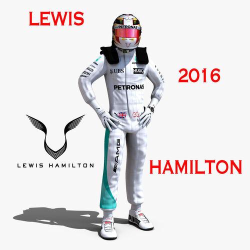 lewis hamilton 2016 3d model rigged max obj mtl 3ds fbx c4d ma mb 1
