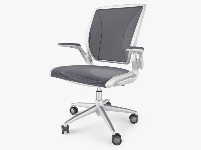 humanscale diffrient world office chair 3d model max obj fbx mtl 1