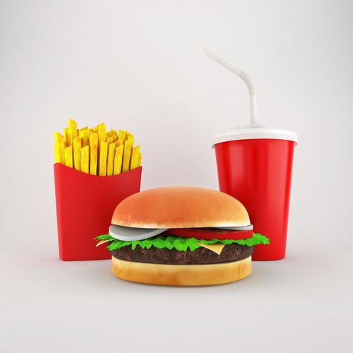 cheeseburger  menu 3d model max 1