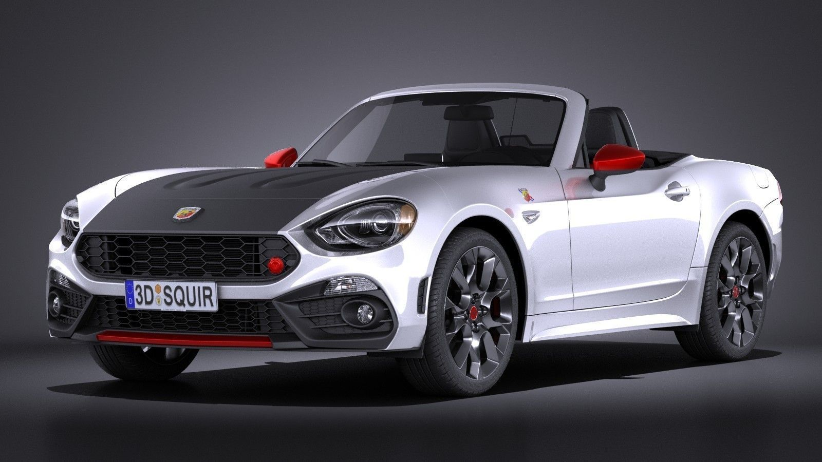 fiat 124 spider abarth 2017 3d model max obj 3ds fbx c4d lwo lw lws. Black Bedroom Furniture Sets. Home Design Ideas