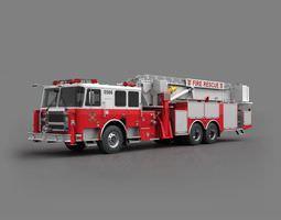 Fire Truck Red 3D