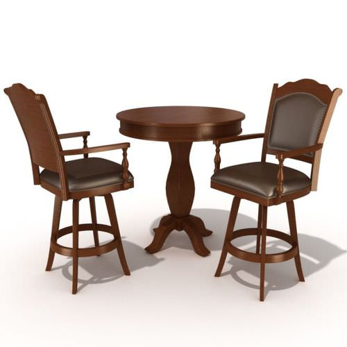Restaurant Table And Chairs3D model