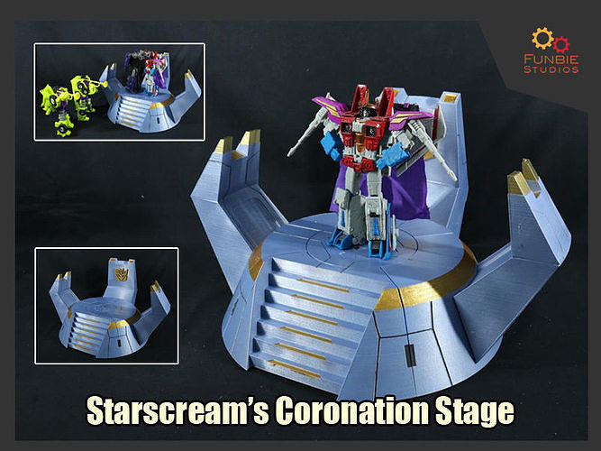 Starscream Coronation Stage from Transformers the Movie