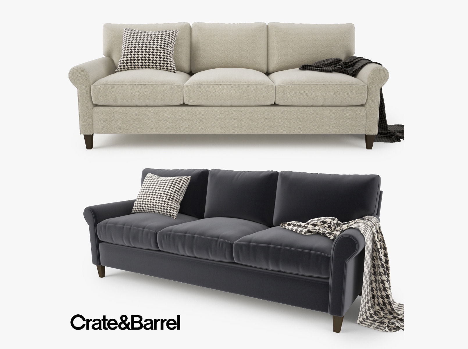 Crate And Barrel Sofas Davis Down Blend Sofa Crate And