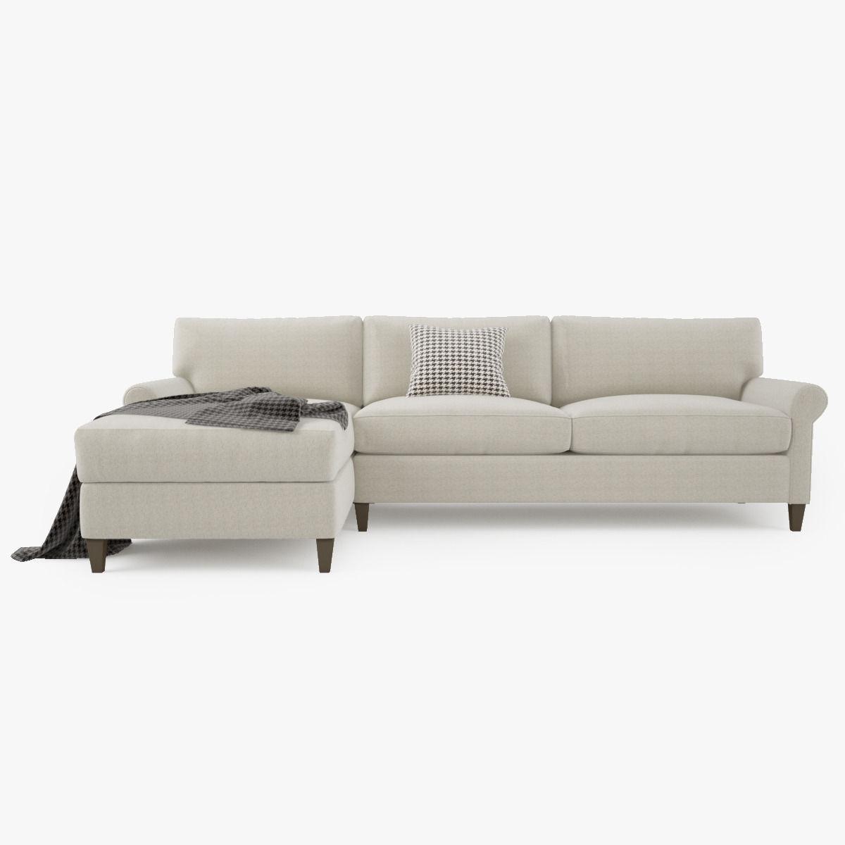 ... Crate And Barrel Montclair 2 Piece Sectional Sofa 3d Model Max Obj Fbx  Mtl 2 ...