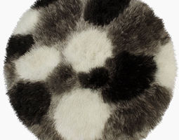 Carpet Lima round 3D model