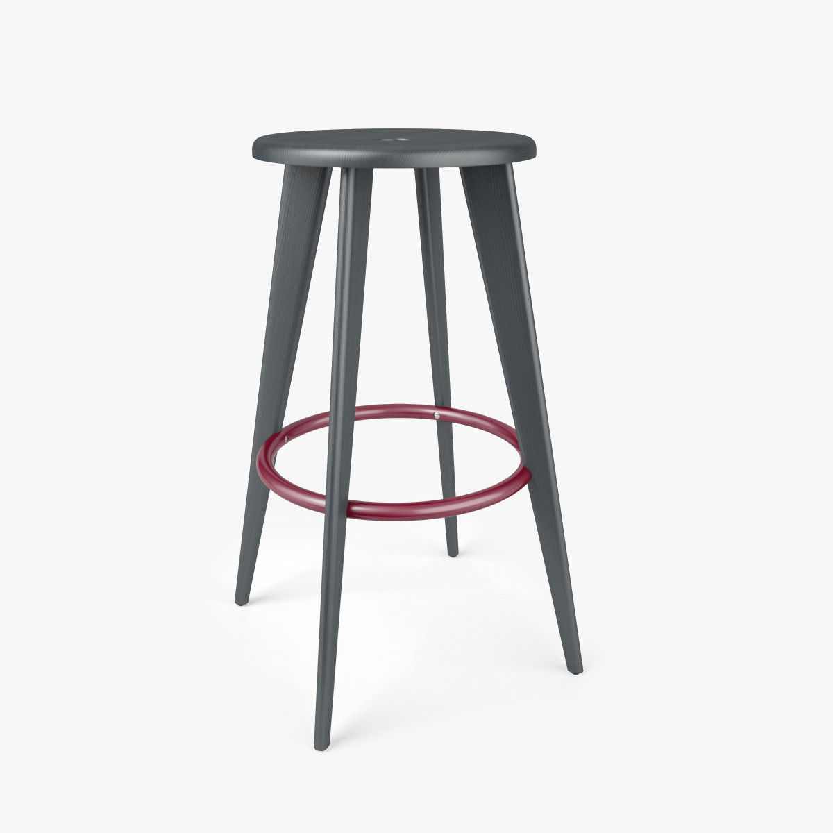 vitra tabouret haut bar stool 3d model max obj fbx mtl. Black Bedroom Furniture Sets. Home Design Ideas
