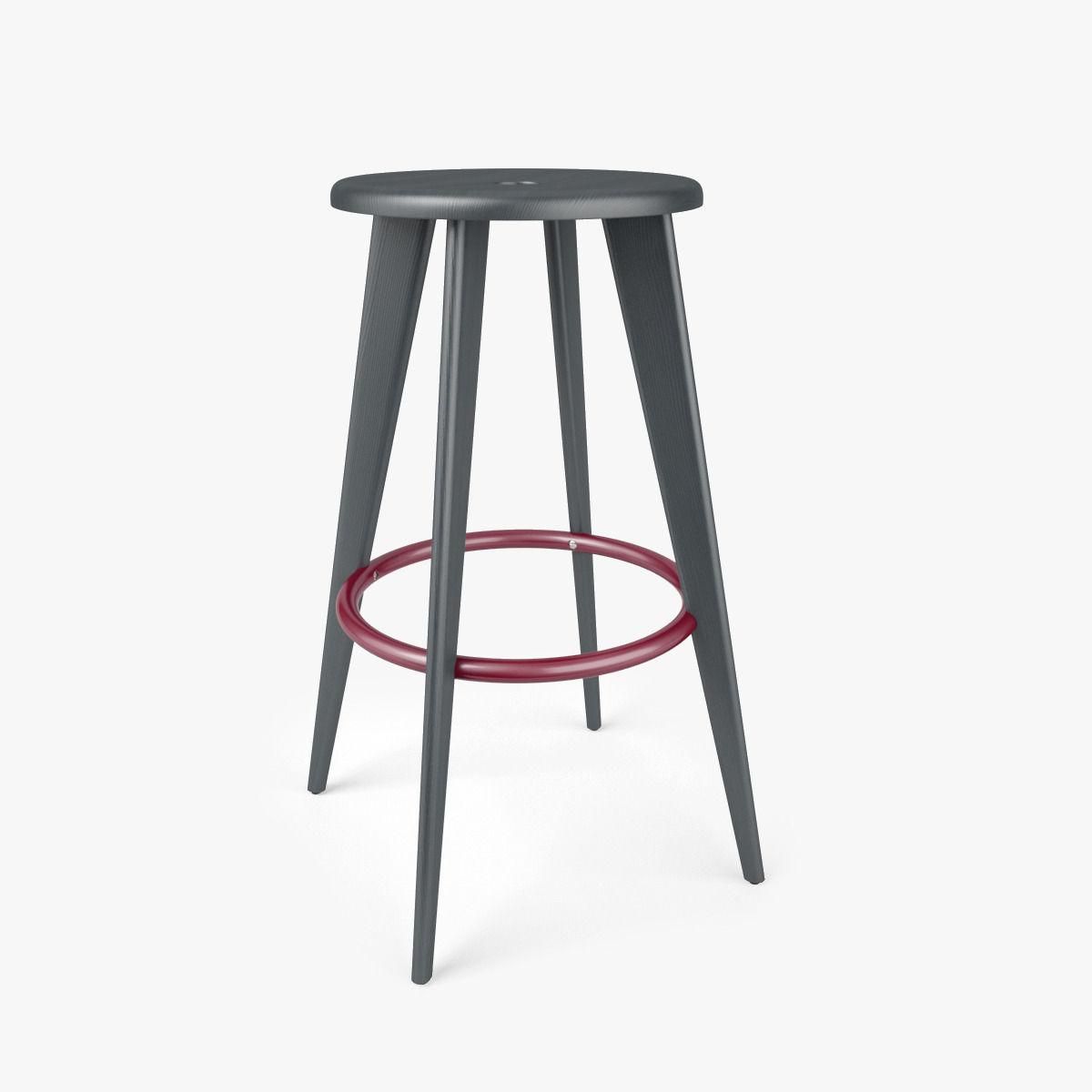 Vitra tabouret haut bar stool 3d model max obj fbx mtl for Tabouret bar haut
