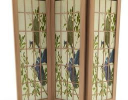3D Asian Folding Screen