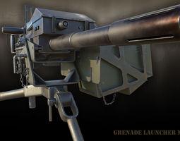 PBR 3d model grenade launcher mk-19 realtime