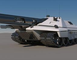 Sci-Fi Future Tank Concept 3D Model