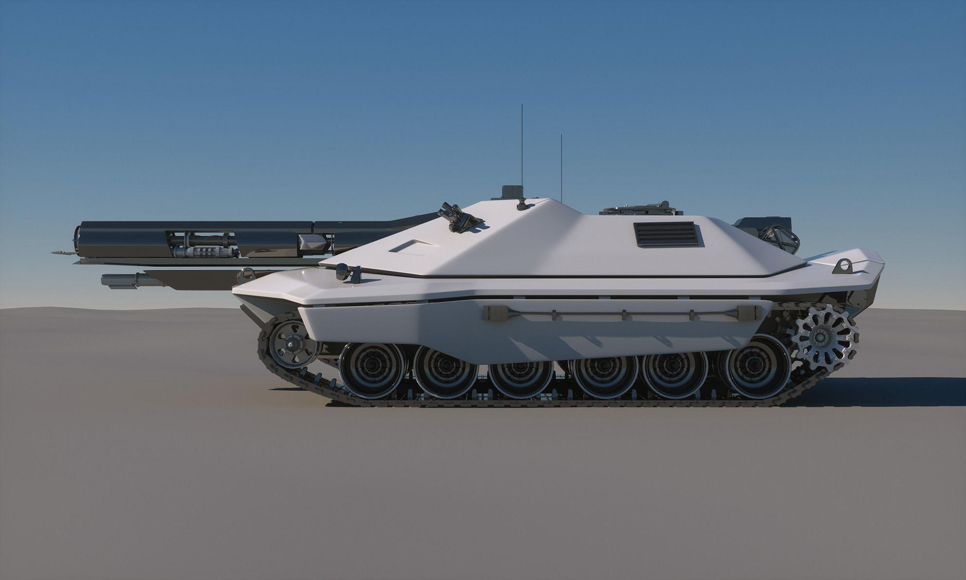 Sci Fi Future Tank Concept 3d Model Max Obj Fbx